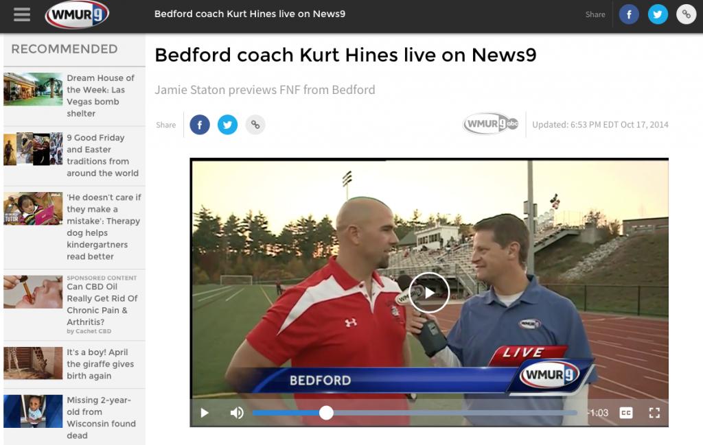 Coach Kurt Hines WMUR