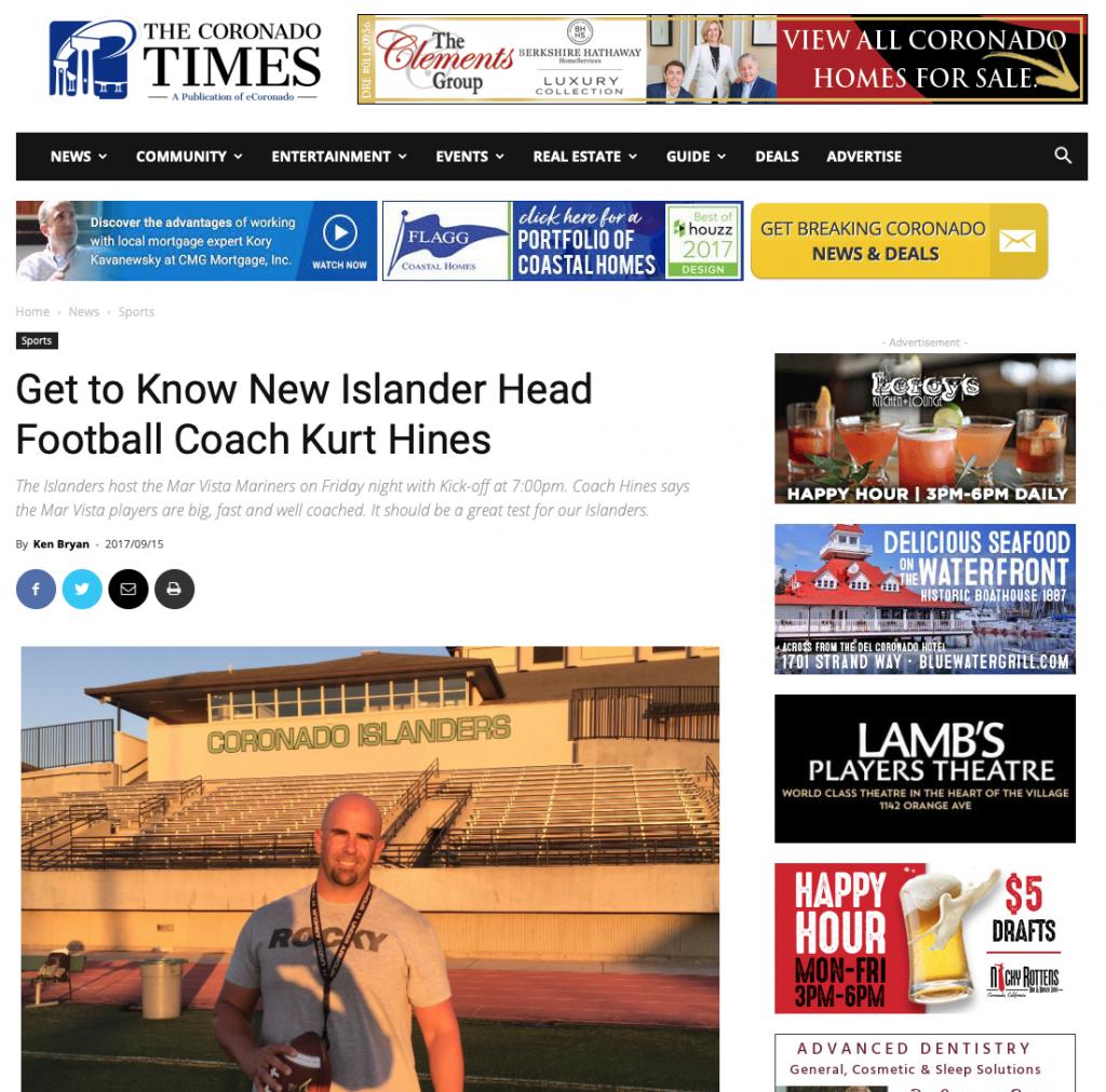 Coach Kurt Hines Press 2
